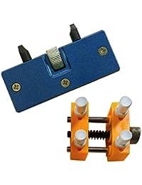 2 PCS Reloj reparación Kit 1 ajustable abridor trasero caso removedor + 1 reloj soporte de fijación soporte a relojero herramientas de reparacion
