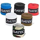Ziatec 2(Lot de 4) Box professionnelle bande de 3mètres, bandages Wraps, bandages de boxe Bandage pour Poignet, main, avec passant de pouce et fermeture velcro, noir