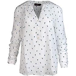 Blusa Para Mujer De Zwilling Corazón/con flamencos/perfecta para el verano/Chalecos/Tops/Camisa/Camiseta/Sudadera blanco/azul marino Small