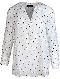 Zwillingsherz Bluse Damen mit Flamingo - Sommer Oberteile - Hochwertige  schöne und luftige Tunika Chiffon Blusen für… 7177977483