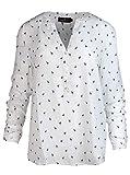 Zwillingsherz Bluse Damen mit Flamingo - Sommer Oberteile - Hochwertige schöne und luftige Tunika/Chiffon Blusen für Frauen - elegantes langarm Hemd T-Shirt - perfektes Oberteil für jeden Anlass