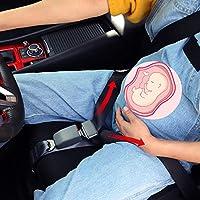 Coj/ín para cintur/ón de Seguridad de Coche para Mujeres Embarazadas cintur/ón con Almohadilla Ajustable y Suave y Transpirable MULOVE