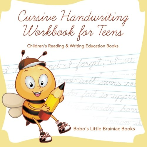 Cursive Handwriting Workbook for Teens : Children's Reading & Writing Education Books