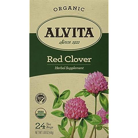 Alvita - trébol rojo orgánico té descafeinado - 24 saquitos