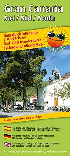 Gran Canaria Sud /Süd /South: Rad- und Wanderkarte, Wetterfest, reissfest, abwischbar, GPS-genau, mit Tourenvorschlägen. 1:50000
