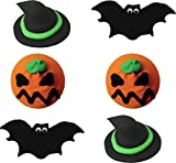 Decorazioni per dolci di Halloween: 6 mini dischi di zucchero forme spaventose