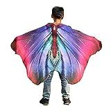 POPLY Karneval Kind Kinder Jungen Mädchen Fasching Kostüm Schmetterlingsflügel Kimono Flügel Schal Cape Tuch Pashmina Kostüm Zubehör Butterfly Wing Cape karnevalsdiscount