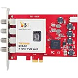 TBS6909 DVB-S/S2 8 Tuner PCIe Card, Carte PCIe Tuner TV DVBS/S2 satellite OCTO Tuners – 8 tuners / Linux