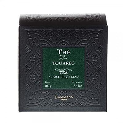 Thé Vert parfumé à la Menthe Touareg - Dammann Frères (50 Sachets Cristal, 100g)