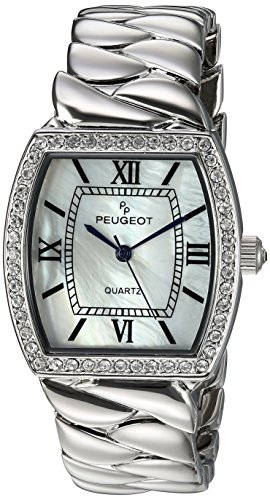 Peugeot Women's Analog Quartz Watch with Silver-Plated-Stainless-Steel Strap 7099S