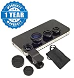 #6: Drumstone Universal 3 In 1 Cell Phone Camera Lens Kit With Fish Eye Lens For All Smartphones