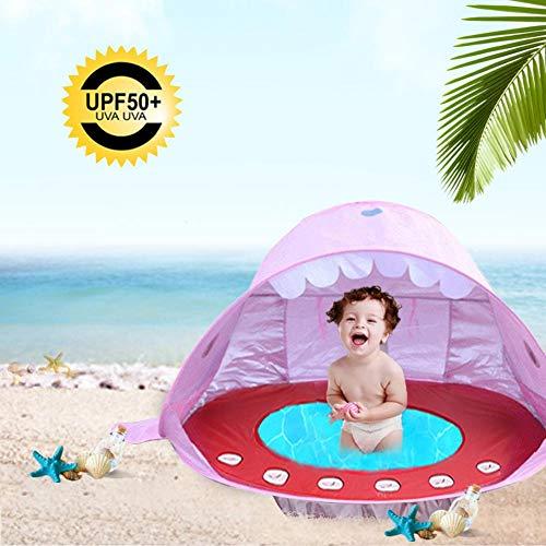 Strand Pop Up Zelt, PER Kinder Strandzelt UPF 50+ UV Schutz Sun Shelter Zelt, Tragbares Outdoor Planschbecken Spielzelt
