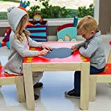 Labebe - Kids Wooden Furniture Set Table and Chairs of Apple
