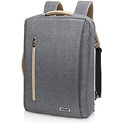 Lifewit Sac à Dos Ordinateur Portable, 15.6 Pouce Laptop Backback avec Chargeur USB Rucksack avec Couverture de Pluie pour Femme Homme pour Randonnée Voyage Scolaire Bureau, Gris