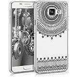 kwmobile Étui transparent en TPU silicone pour Samsung Galaxy A3 (2016) en noir transparent Design Cathédrale