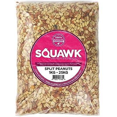 SQUAWK Split Peanuts - Wild Bird Premium Grade Garden Birds Fresh Food Mixture from SQUAWK