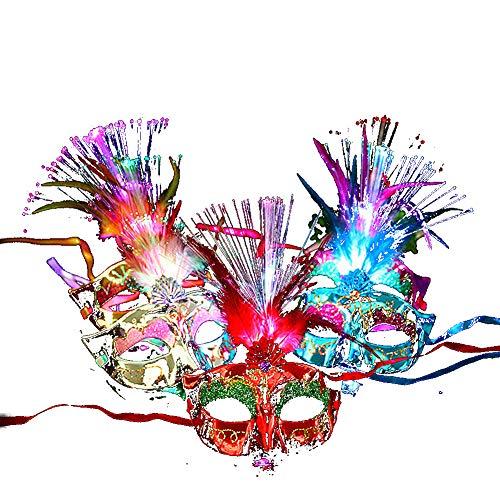 Halloween-Maskerade-Maske Maske Partei Cosplay Frauen-Spitze-Maske Prop-Dekor Scary Partei-Festival-Dekoration (1PC, Random)