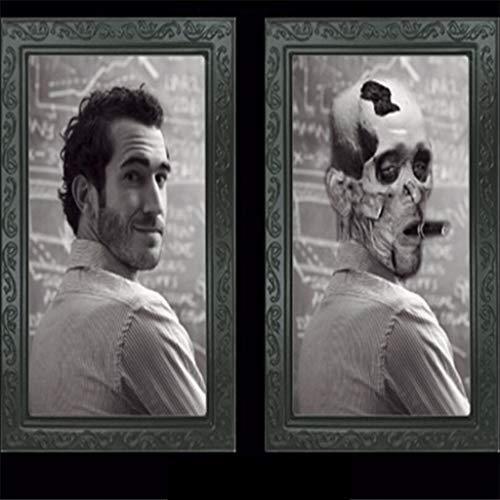 VICKY-HOHO Horror Bilderrahmen Lenticular 3D ändern Gesicht beängstigend Portrait Spuk Spooky