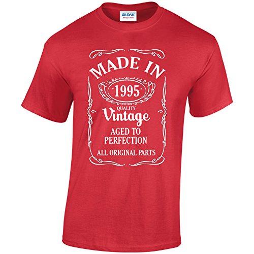 "Vintage 90's ""Made in"" 21. Geburtstag 21. Geburtstag Shirt Geschenk Machten Rot - Rot"