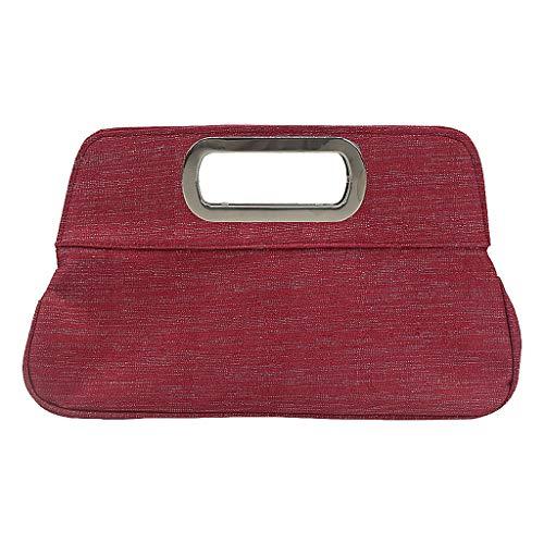 Quadrat Hals T-shirts Tops (LSAltd Damenmode Einfaches Quadrat Faltbare Handtasche Abendtasche)