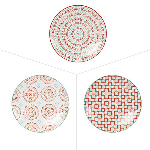 ASSIETTE DESSERT 20CM PAPAYA PORCELAINE ASSORTIE (LOT DE 6)