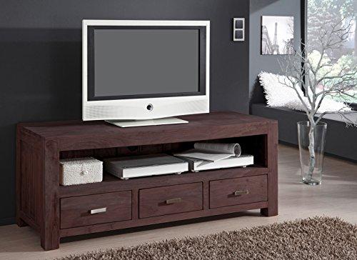 SAM® Longboard Timber 6618 aus Akazienholz, Sideboard tabakfarben, massiv, 3 Schubladen, 2 große Ablageflächen, viel Stauraum