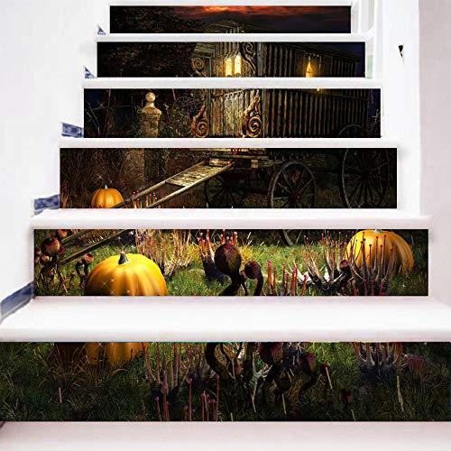 kleber 3D Kürbis Kutsche Treppe Aufkleber Abnehmbare Wasserdichte Wandaufkleber 100 * 18Cm6 ()