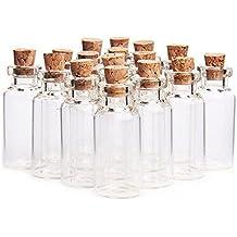 Ericotry - Botes de cristal con tapones de corcho para guardar mensajes de boda y fiestas
