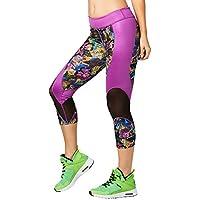 Zumba Fitness® la pachanga Malla Capri Leggings Mujer Pantalones, Todo el año, Mujer, Color Tangerine Tango, tamaño Medium