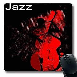 Luancrop Mousepads für Computer Musiker Musik Jazz Bassist Performancehalftone Pattern Band Texturevector Rockabilly Live rutschfeste Gaming-Mausunterlage