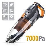 Aspiradora para Coche PUPPYOO WP709 Aspirador de Mano Aspirador Inalámbrico, Batería de Litio, Recargable, 7000Pa, 110w Succión Ciclónica Potente