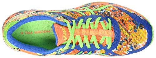 Asics Gel-Noosa Tri 11, Chaussures de Sport Homme Multicolore (Hot Orange/Green Gecko/Electric Blue)