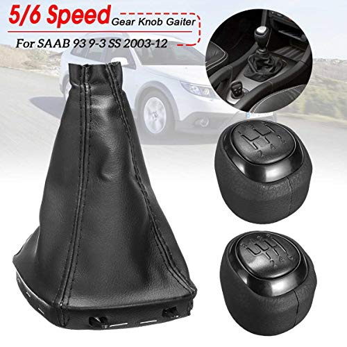 HCDSJSN 5/6 Geschwindigkeit Auto manuelle schaltknauf pu Leder gamasche Boot Cover hebel Shifter für saab 93 9-3 ss 2003-2012
