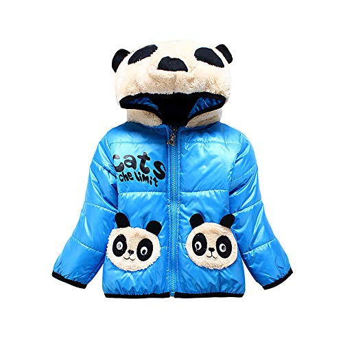 Manteau À Capuche Bébé Filles Garçons Vestes À Manches Longues Zipper avec  Poche Doudoune Cartoon Panda 3b02386b8be