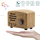 L&Z Retro Lautsprecher Portable Bluetooth 4.0 Lautsprecher Wireless mit MP3-Modus Telefon Subwoofer Desktop FM Radio Mini Unterstützung TF Card Mic USB iPhone iPad Android Smartphone Tablet