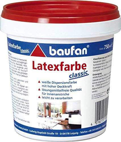 baufan Latex Weiß Classic 750 ml - Latexfarbe