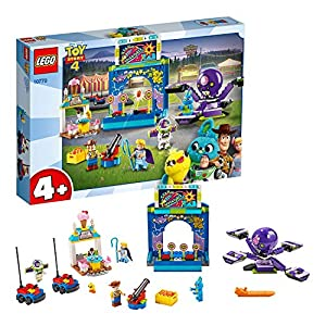 LEGO Juniors 4+ ToyStory4 BuzzeWoodyelaManiadelCarnevale! con le Minifigure di Buzz Lightyear e Woody, 10770 5702016367751 LEGO