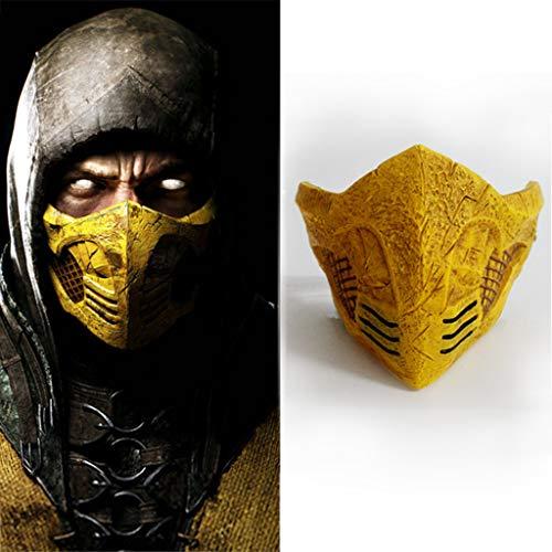 Cosplay Mortal Kombat Kostüm - K-Flame Mortal Kombat Masken Halloween Cosplay Adult Kostüm Neuheit Zubehör für Männer Karneval Ostern Party Prop