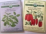 Portal Cool Renee'S Garten Bio-Samen Italienisch Set Basilikum Genovese San Marzano Sauce Tomate