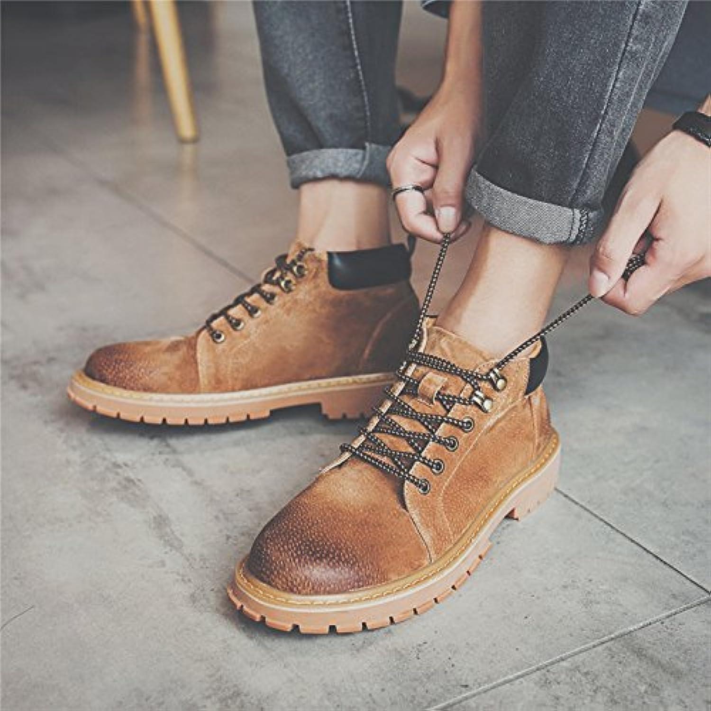 HL-PYL-zapatos de hombre Retro alta botas zapatos botas botas botas Martin.,38,Brown