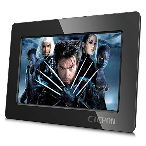 ETEPON - Monitor Raspberry Pi da 7 Pollici HD LCD 1024 x 600 HDMI con Guscio Ultra Sottile per Raspberry Pi 3 2 Modello B + 3B 2B B + A + A (7 Pollici HD LCD)
