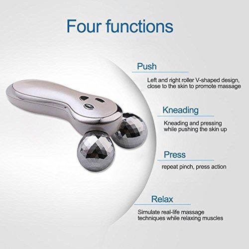 Ljourney 3D Gesicht Massage Roller Mit Mikrostrom Gesicht Massage Roller Facelifting Instrument Aufladen Akupunktur Facelifting Instrument V förmigen Massagegerät Massageroller Für Gesicht Körper - 7