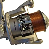 FISHZONE CHROME Series 30 / 40 / 50 (Front & Rear Drag options) Fixed Spool Fishing Reel (Pre Spooled) - for Match Spining & Light Sea (AR30 Rear Drag)
