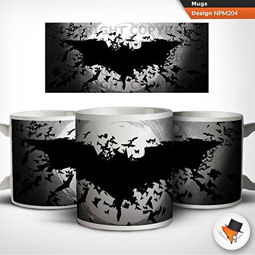 Batman Logo DC Comics inspirierten Fledermäuse erfreuen Kaffee Tee Tasse Geschenk Geburtstagsgeschenk (Fledermaus Logo)