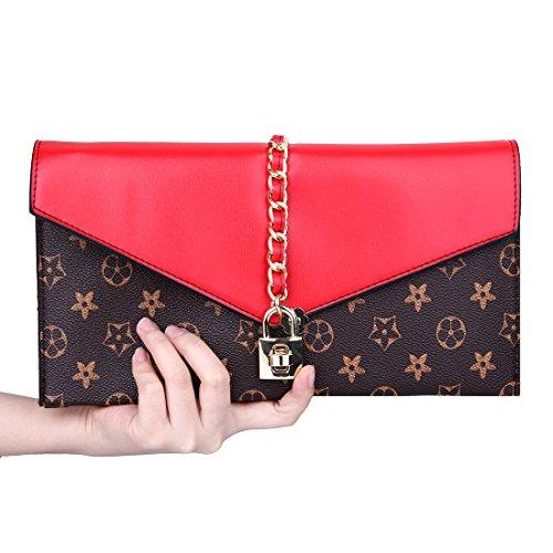 YYW  Evening Bag, Damen Clutch Rot