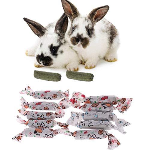 Ogquaton 10 Stück Kaninchen Zähne Schleifen Spielzeug Hamster Natürliches Gras Süßigkeiten Eichhörnchen sauberes Spielzeug langlebig und praktisch (Süßigkeiten Reichlich Und Gut)