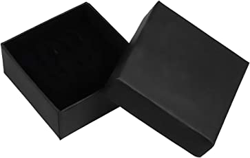 Autiga Geschenkschachtel Schmuckschachtel Geschenkbox Ring Schmucketuis Karton schwarz