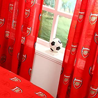 Official Arsenal F.C. Pair Of Curtains - 66 x 54 Inch