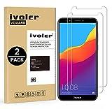 iVoler [Pack de 2] Verre Trempé pour Huawei Honor 7C / Huawei Y7 2018 / Huawei Y7 Prime 2018 / Huawei Y7 Pro 2018, Film Protection en Verre trempé écran Protecteur vitre