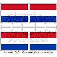 Set de 4 pegatinas de vinilo para casco y parachoques (50 mm), diseño de la bandera de los Países Bajos